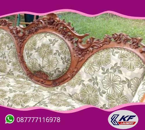 Cuci (laundry) kursi kayu sofa -KF Laundry, Mampang, Jakarta Selatan