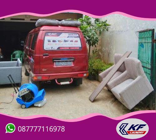 Cuci (laundry) kursi sofa -KF Laundry, Mampang, Jakarta Selatan