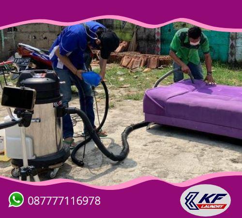 Cuci (laundry) sofa murah -KF Laundry, Mampang, Jakarta Selatan